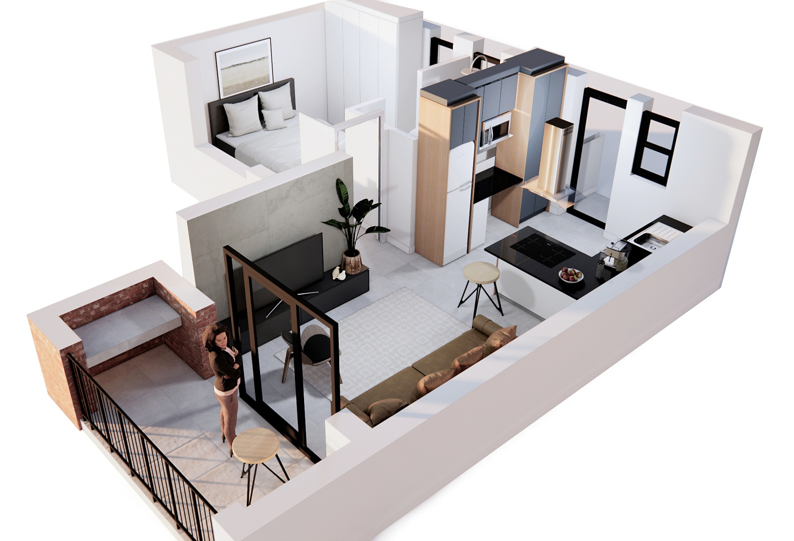 Apartment in Pinelands - Unit A Perspective.jpg