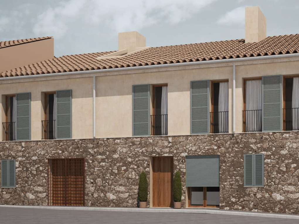 House in Selva - New construction townhouse with Pool in Biniamar