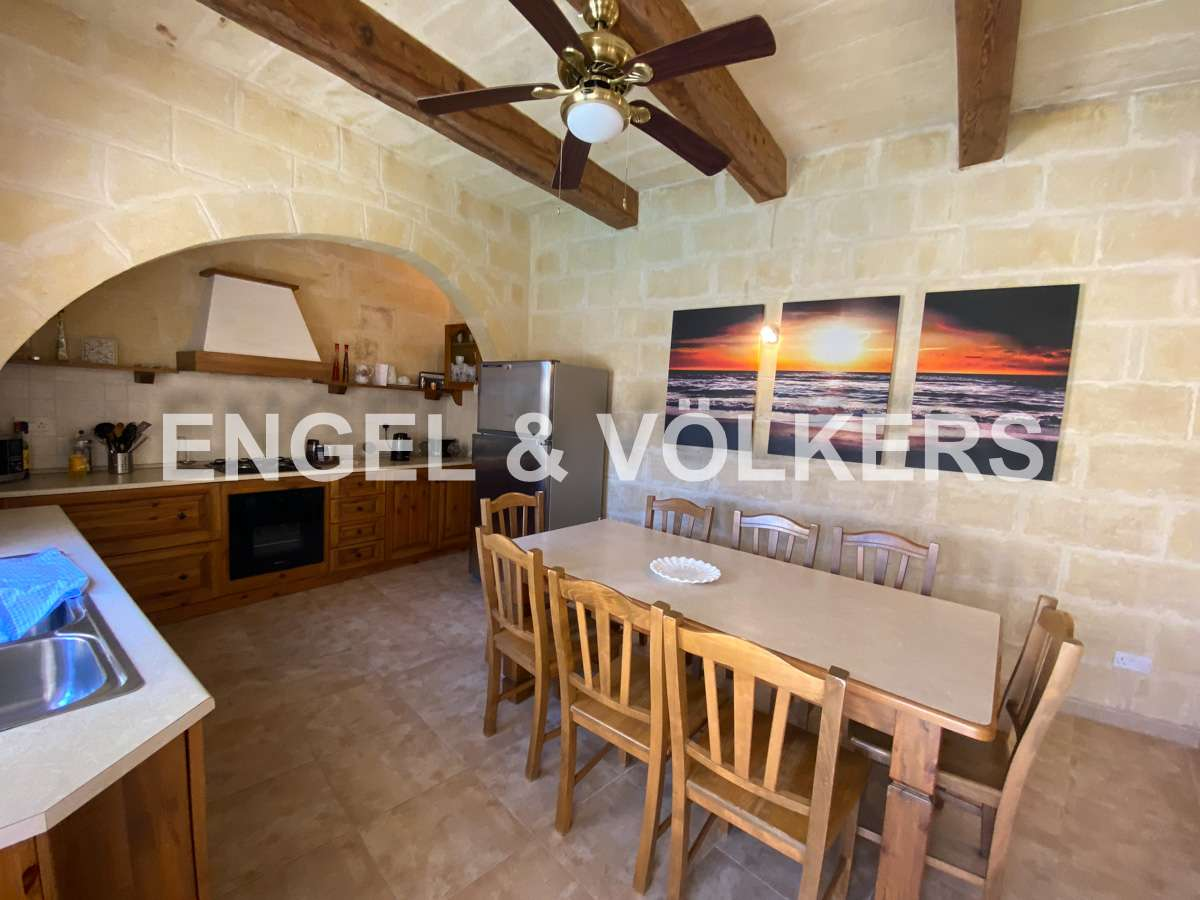 House in Xaghra - Xaghra, Villa, Kitchen / Dining