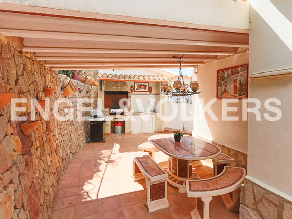 House in La Sella Golf - BBQ area.