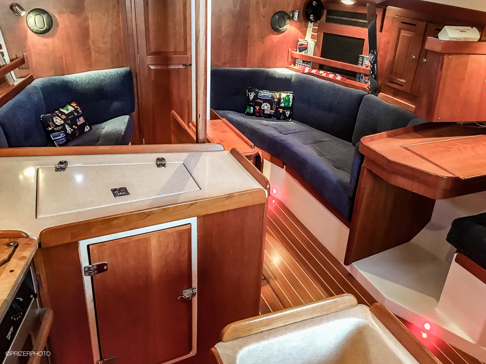 Sail in United States - Looking forward from galley.
