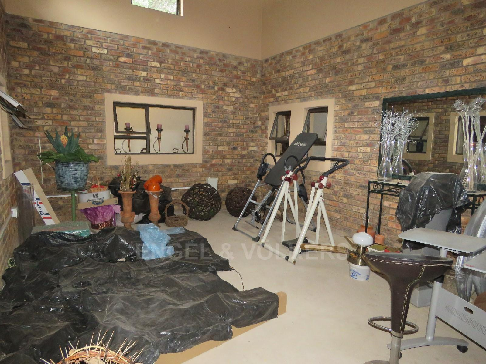 House in Schoemansville - living room/greenhouse/gym area