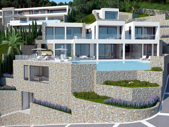 House in Son Vida - Spectacular modern villa in Son Vida with unbeatable sea view - Palma de Majorca