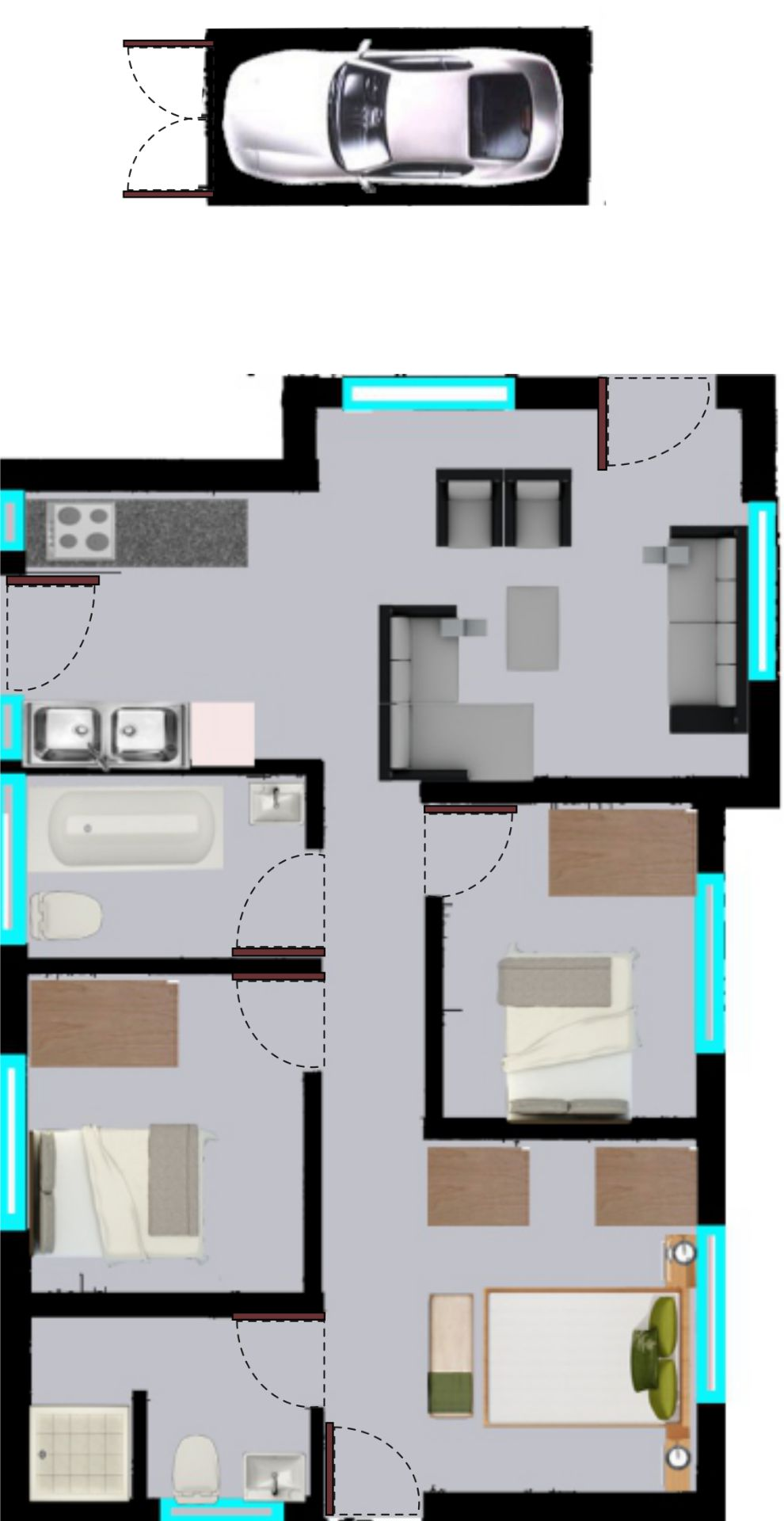 House in Clayville - Midrand Village Unit Type 3.png