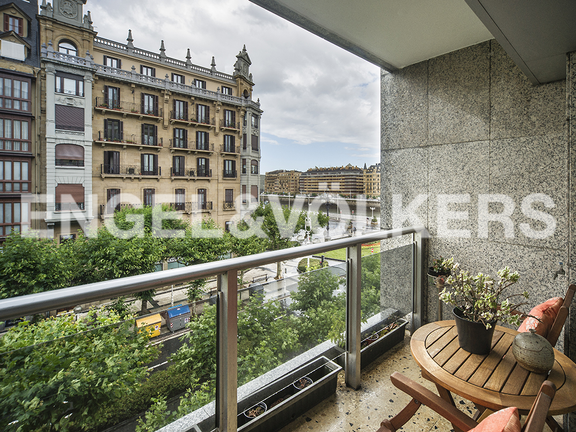 Terrace with river views