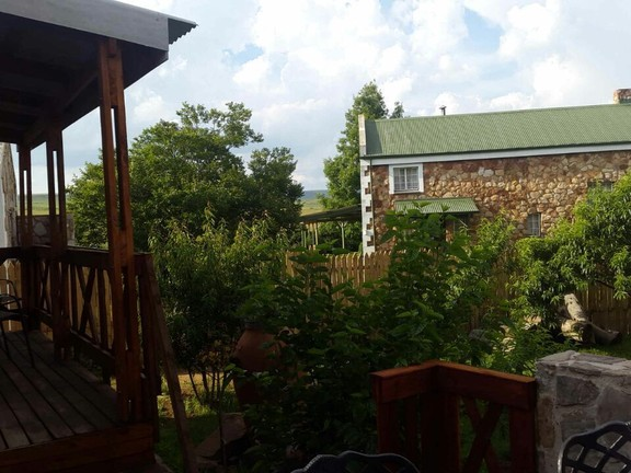 House in Dullstroom Village - View frim deck to neighbour house.jpg