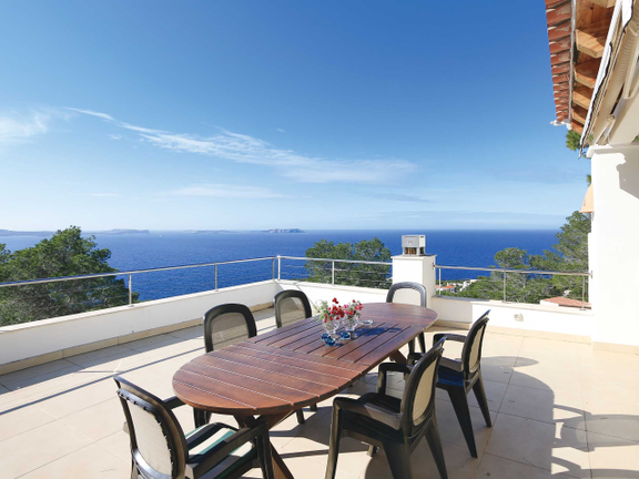 House in San Antonio - Terrace on the upper floor with amazing views to the sea