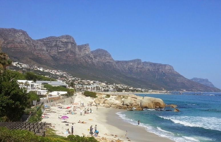 House in Camps Bay - 28.VIEW OF BECH FROM UPSTAIRS WITH PEOPLE.jpg