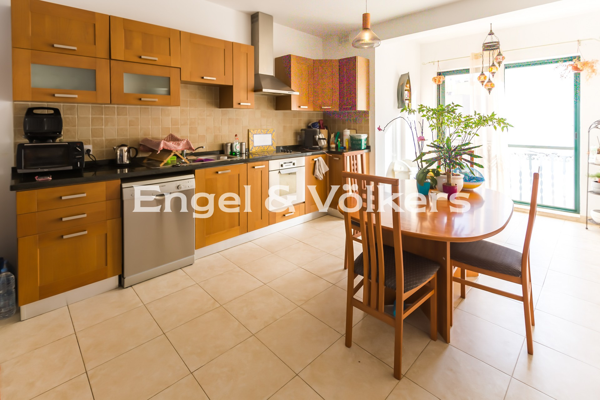 Apartment in Swieqi - Penthouse, Ibrag, Kitchen/Dining/Living