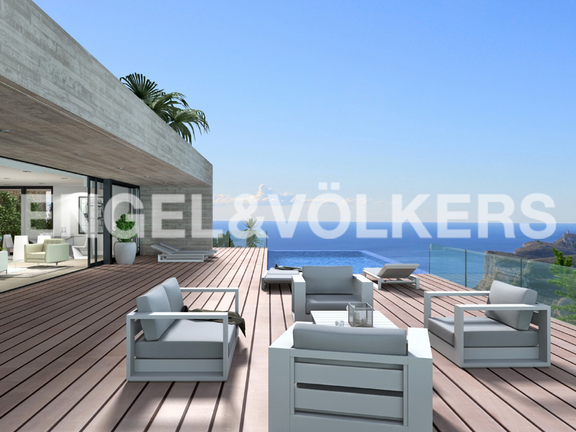 Luxury Villa in Cumbre del Sol, Terrace
