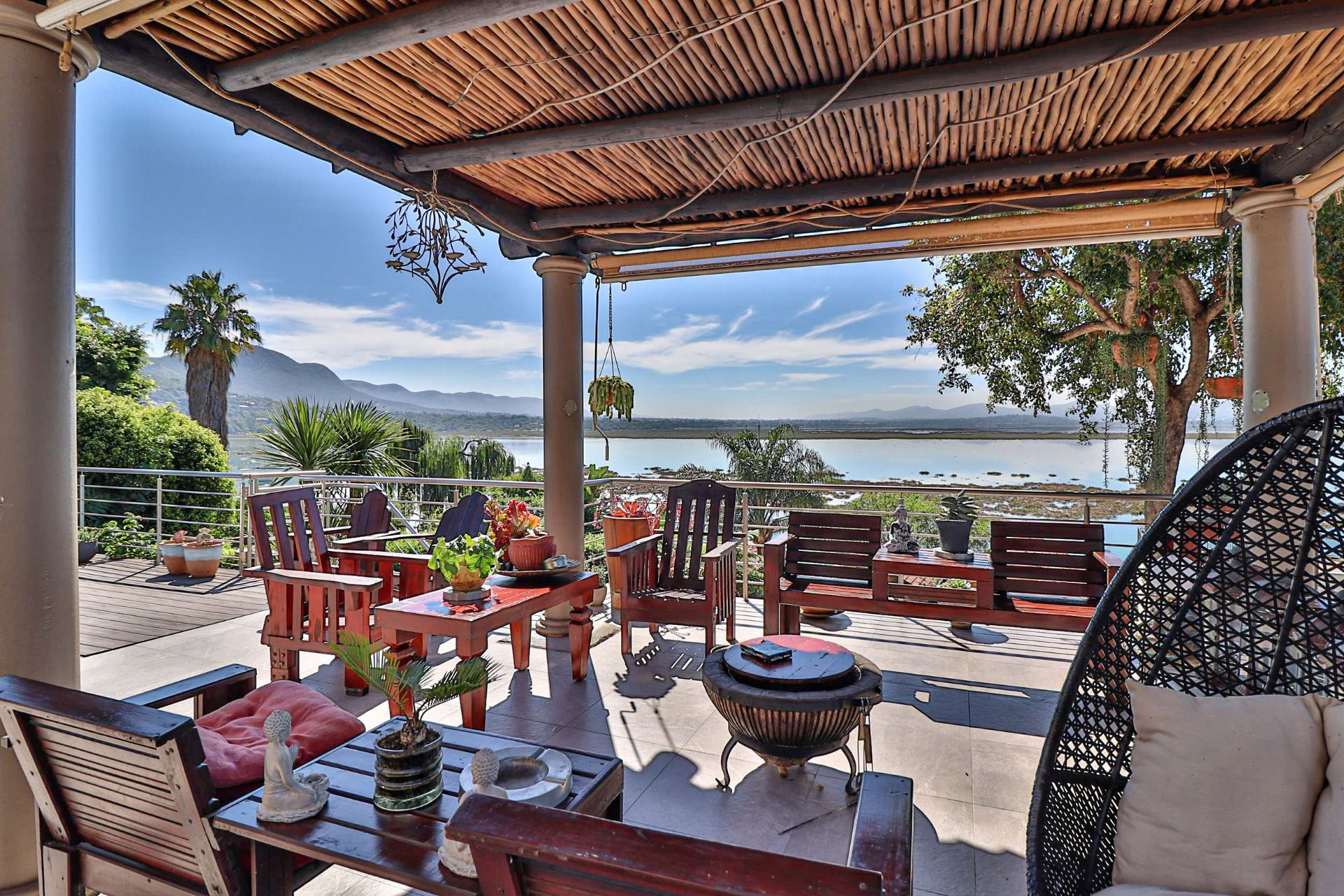 House in Kosmos Village - Views from the patio over the dam and beyond