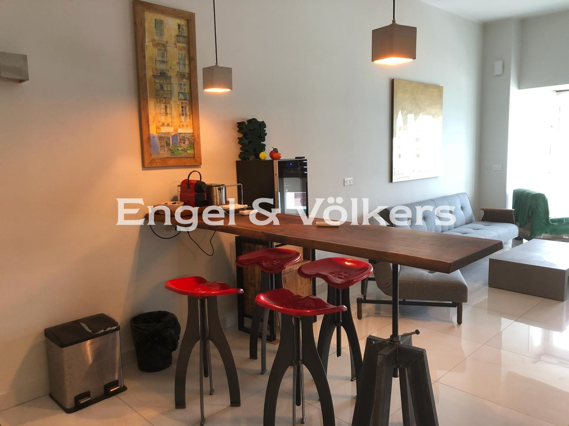 Apartment in St.Julians - Apartment, Sliema, Kitchen/Dining/Living