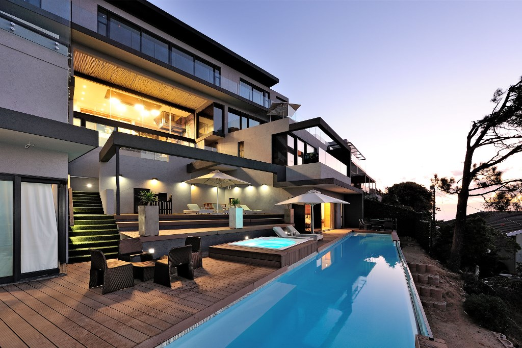 House in Camps Bay - Pool Area blue hour.jpg