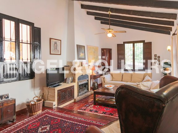 House in La Sella Golf - Lounge with fire place.
