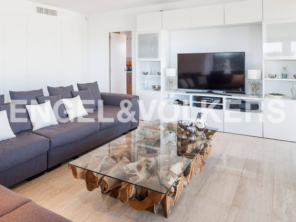 Condominium in Ibiza - Modern living room with sea views
