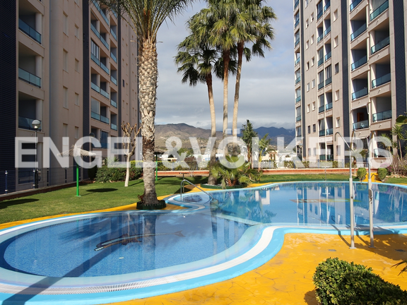 Condominium in Villajoyosa - Penthouse duplex with sea views in front of the beach. Swimming pool