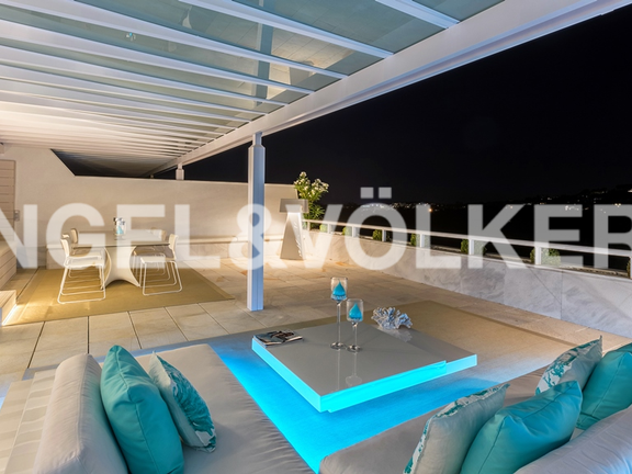 Condominium in Marbella-Nueva Andalucía - Upper terrace facing the sea