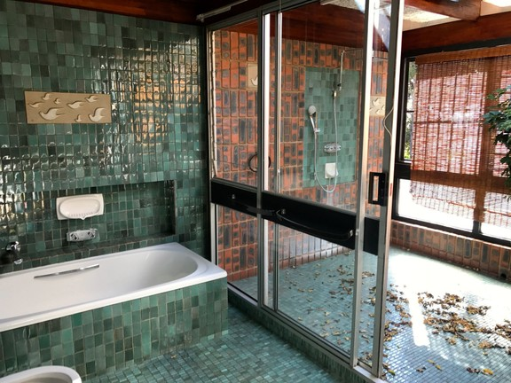 House in Waterkloof Park - Large outdoor shower in main room