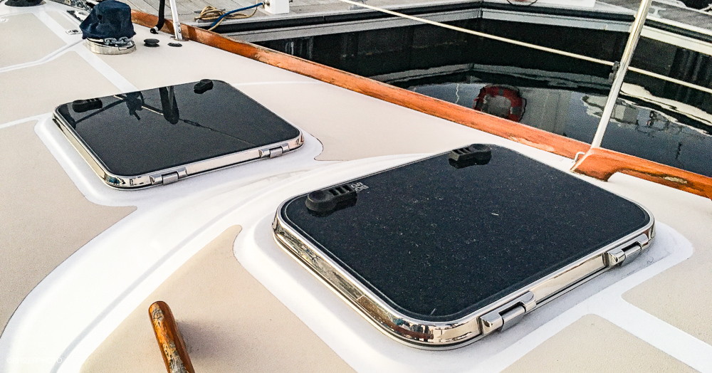 Sail in United States - Stainless steel deck hatches.