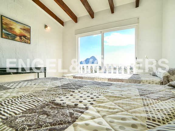 House in Calpe - Bedroom with view