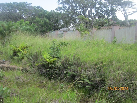 Land in Uvongo - 015 Back yard and wall.JPG