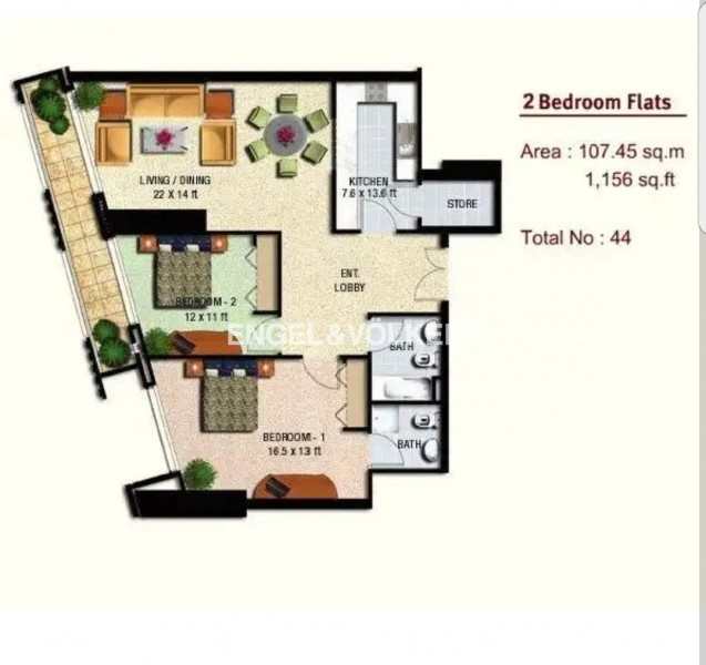 Apartment in Marina Heights