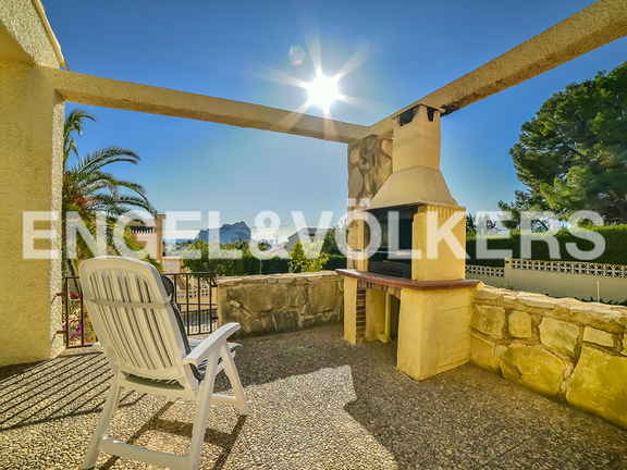 House in Calpe - Terrace with fireplace