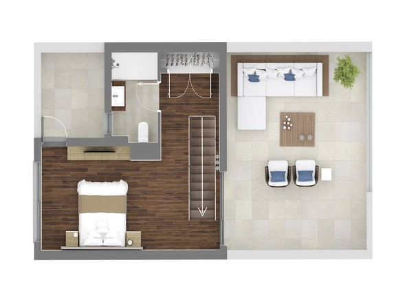 House in Surroundings - Second Floor A2