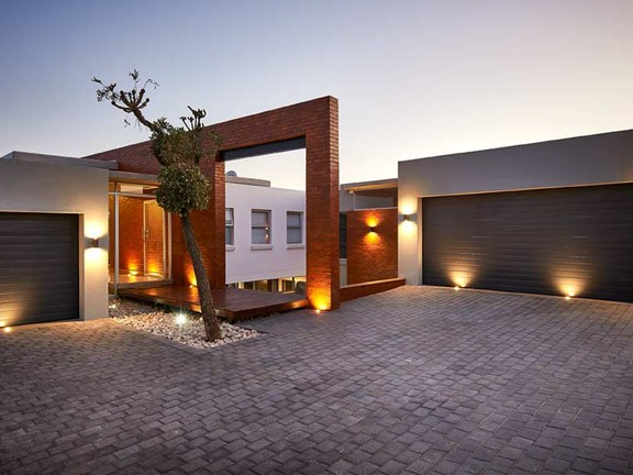 Special lighting on this spectacular home