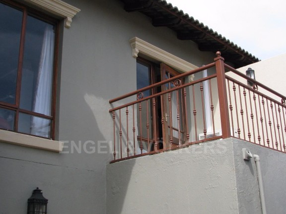 Condominium in Melodie - 2nd Bedroom balcony with views to the Magalies mountains