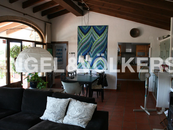 House in Jávea Golf - Rustic Property next to the Javea Golf Course. Open dining room.