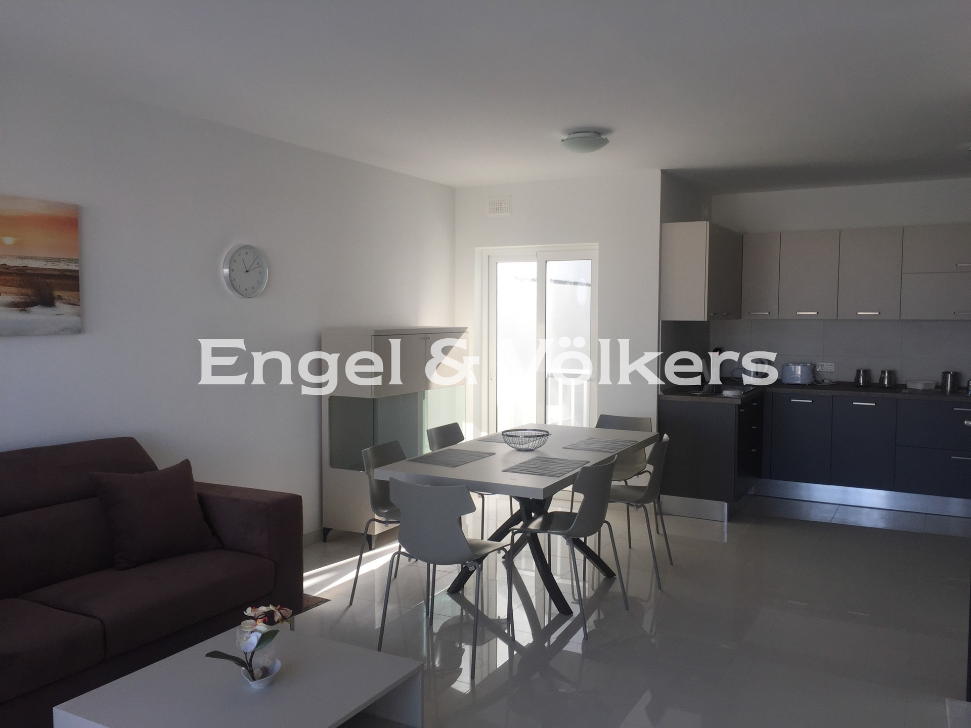 Apartment in Swieqi - Penthouse, Swieqi, Kitchen/Dining/Living