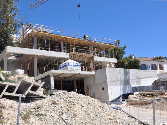 House in Benissa - New Build Property with Sea Views in Montemar - Benissa Costa, Building Phase