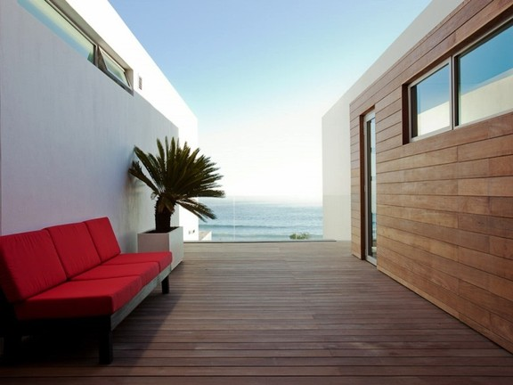Outside deck with ocean views