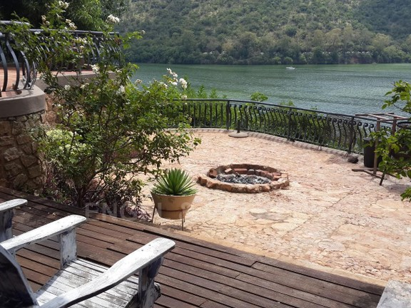 House in Kosmos Village - Lower patio and fire pit
