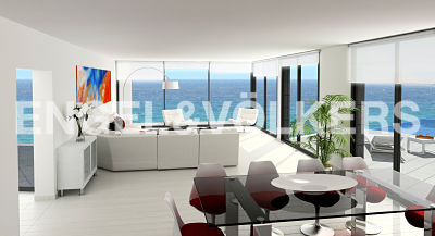 House in Cullera - Living room with sea views