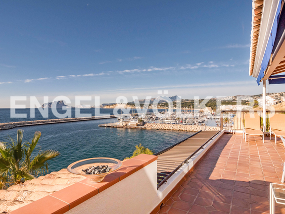 Condominium in Moraira - Spectacular First Line Penthouse at the Moraira Port, Terrace