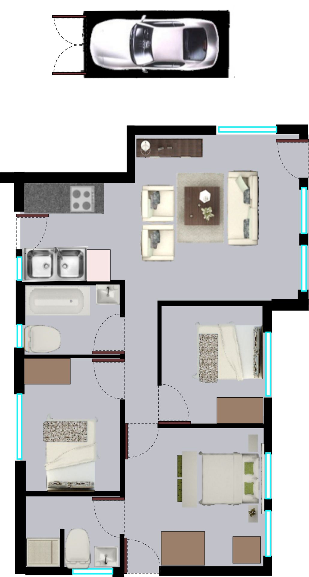 House in Clayville - Midrand Village Unit Type 5.png