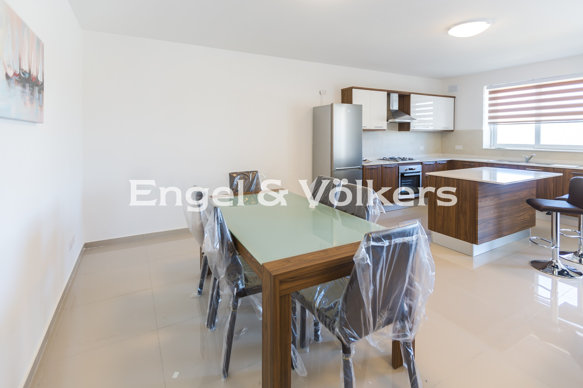 Apartment in Zebbiegh - Penthouse, Zebbiegh, Kitchen/Dining/Living