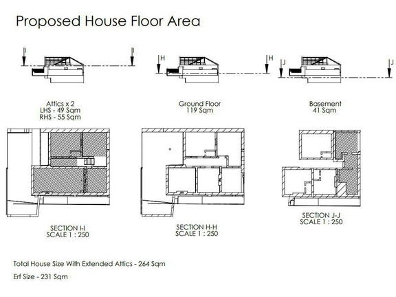 House in Woodstock - Proposed House Floor Area