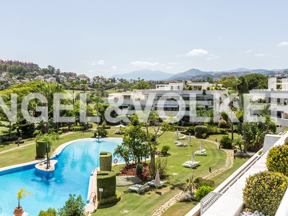 Condominium in Marbella-Nueva Andalucía - Pool and garden view