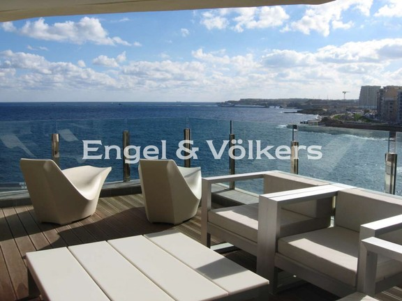 Apartment, Sliema, Terrace with Sea View
