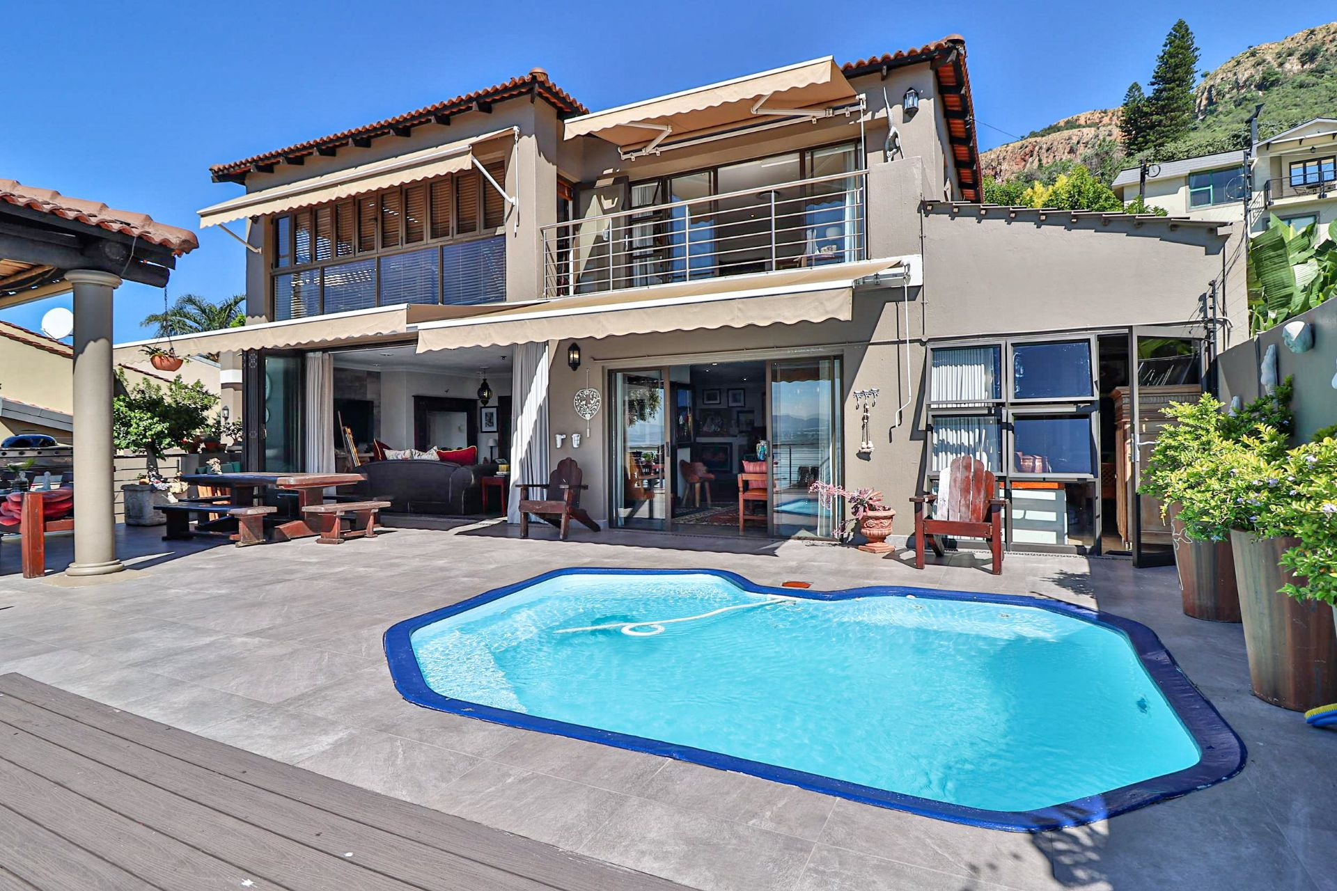 House in Kosmos Village - Entertainment patio is complete with a splash pool