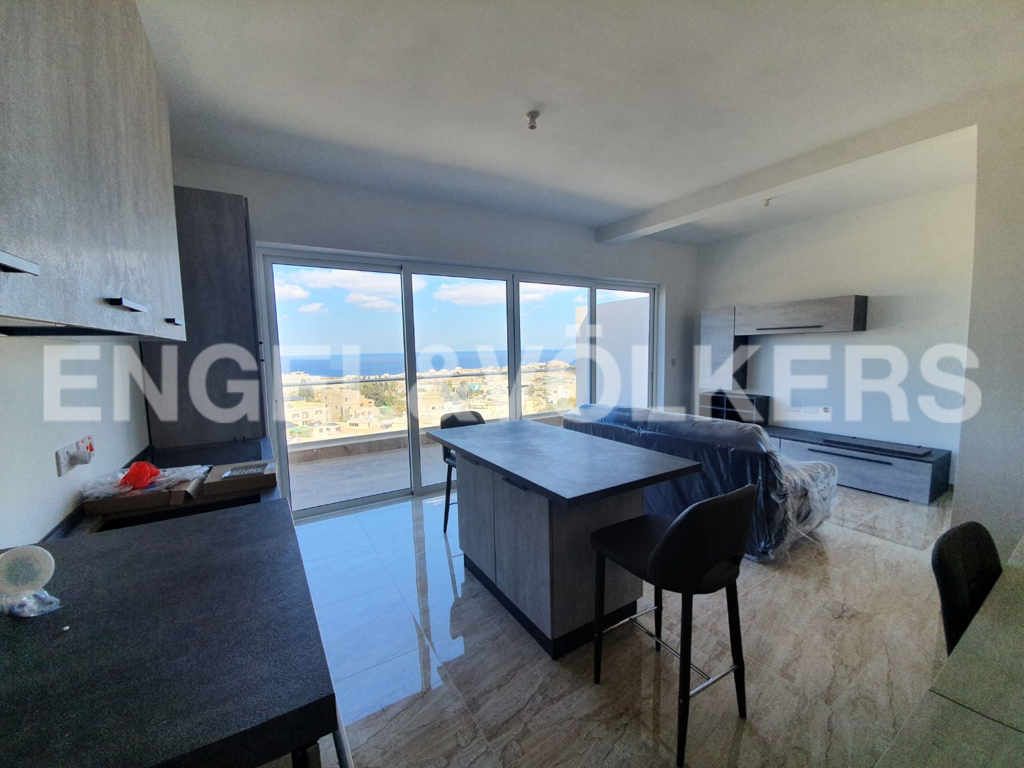Apartment in Ibrag - Penthouse, Swieqi, Kitchen / Living/ Dining