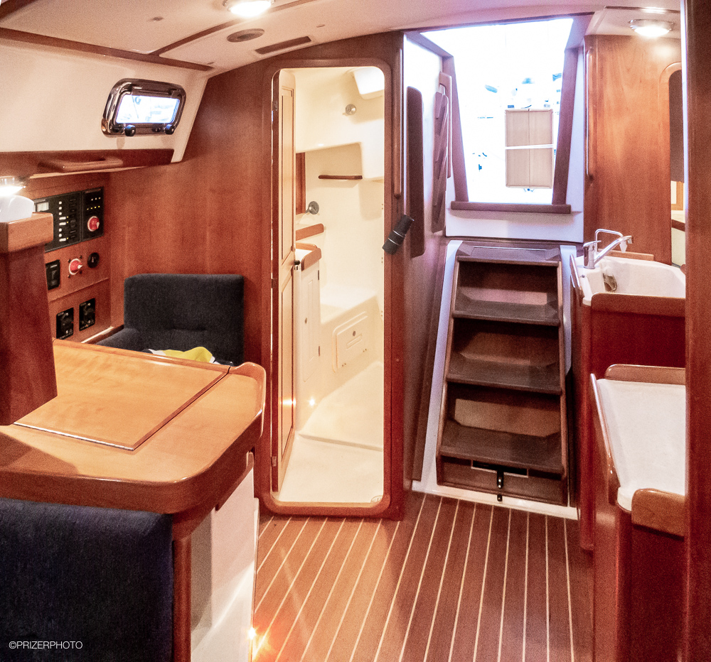Sail in United States - Teak & holly floor throughout.
