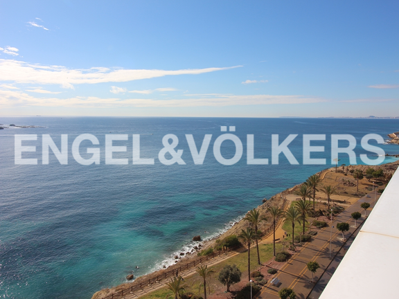 Condominium in Villajoyosa - Penthouse duplex with sea views in front of the beach. Views