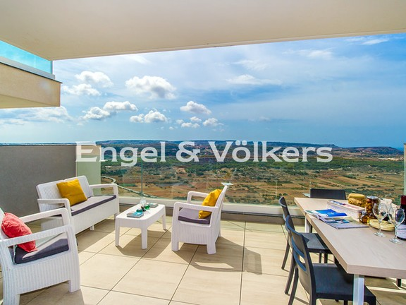 Apartment, Mellieha, Large terrace with outdoor furniture
