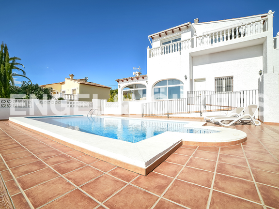 House in Calpe - Backside with pool