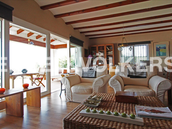 House in Dénia Montgó - House with fantastic sea views in Denia.Livingroom
