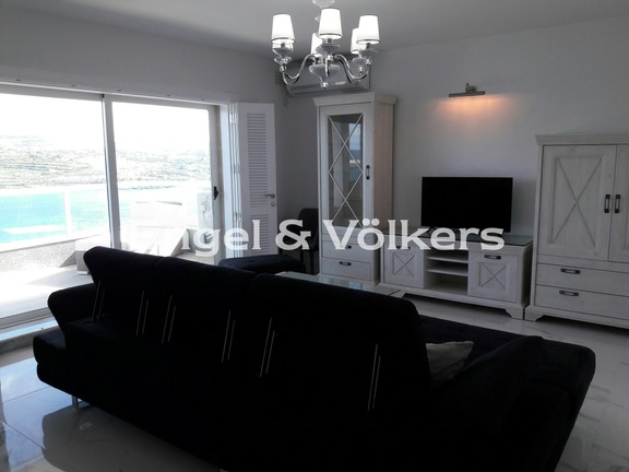 Apartment, Qawra, Kitchen/Dining/Living with a Sea view